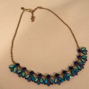 J.  Eww peacock stone statement necklace